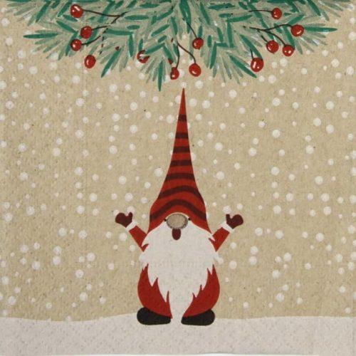 Cocktail Napkins (20) - Happy Santas
