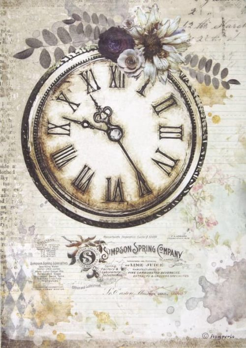 Rice Paper - Romantic Journal clock