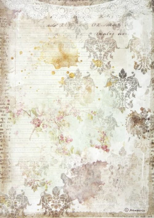 Rice Paper - Romantic Journal texture with lace