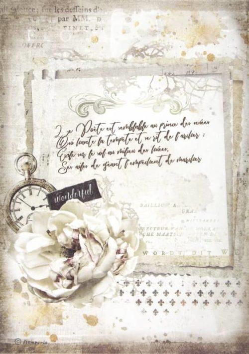 Rice Paper - Romantic Journal manuscript and clock