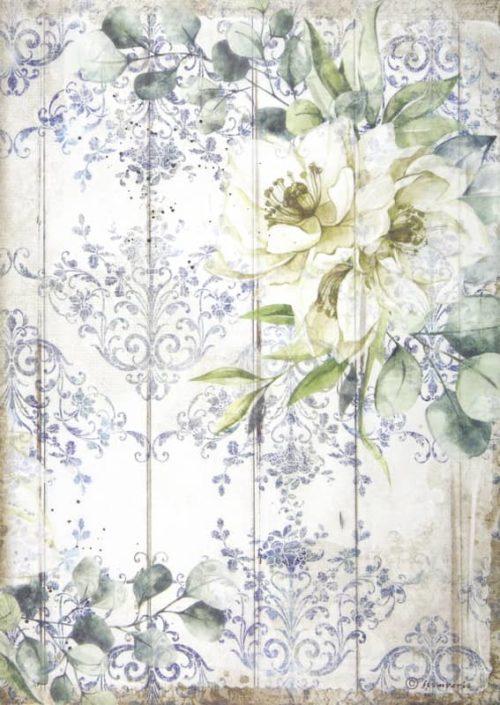 Rice Paper - Romantic Sea Dream white flower