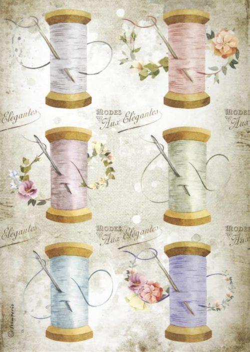 Rice Paper - Romantic Threads needle & thread