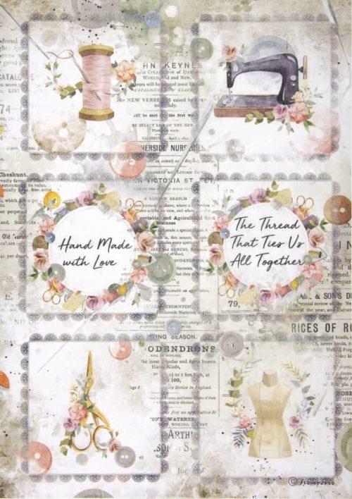 Rice Paper - Romantic Threads mini cards