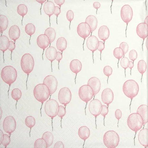 Lunch Napkins (20) - Petit Ballons rose