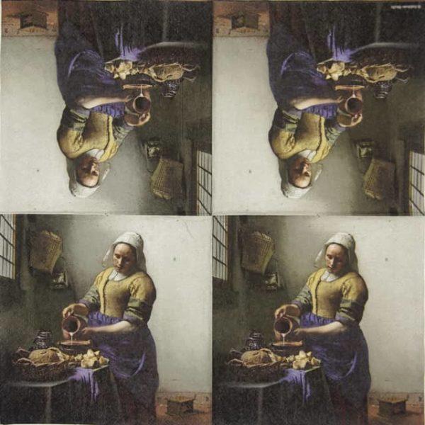 Paper Napkin - The milkmaid