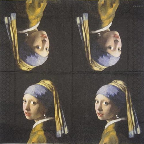 Paper Napkin - Girl With The Pearl Earring