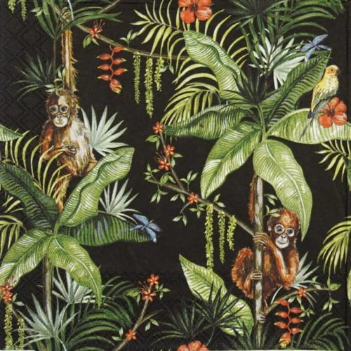 Lunch Napkins (20) - Orangutan black