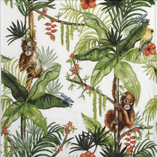 Lunch Napkins (20) - Orangutan white