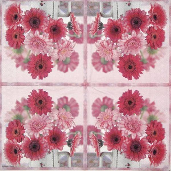 Paper Napkin - Pink gerberas