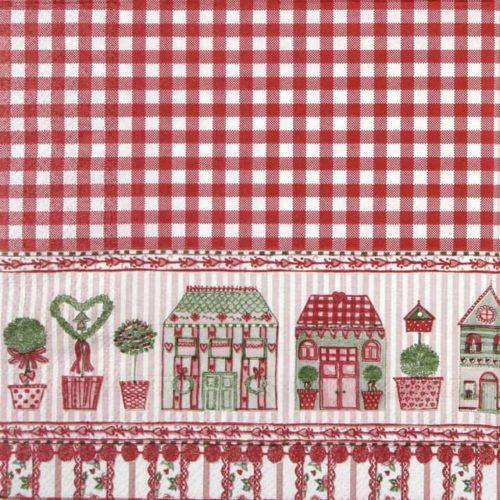 Paper Napkin - Checkered Christmas