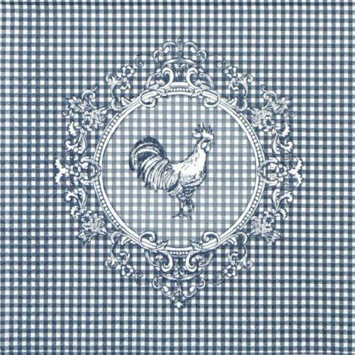 Paper Napkin - Rooster Blue