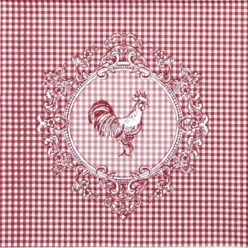 Paper Napkin - Rooster Red
