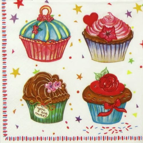 Paper Napkin - Cupcakes