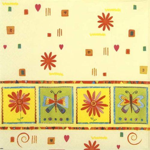 Paper Napkin - Flower decoration