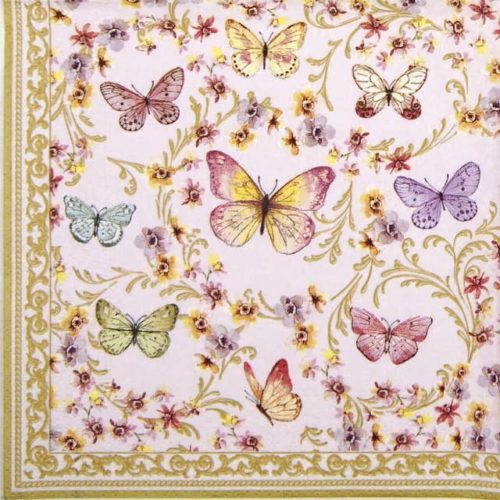Lunch Napkins (20) - Majestic Butterflies