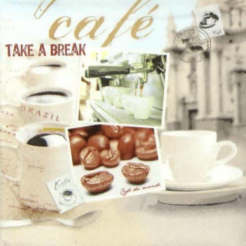 Paper Napkin - Retro Cafe Take a Break