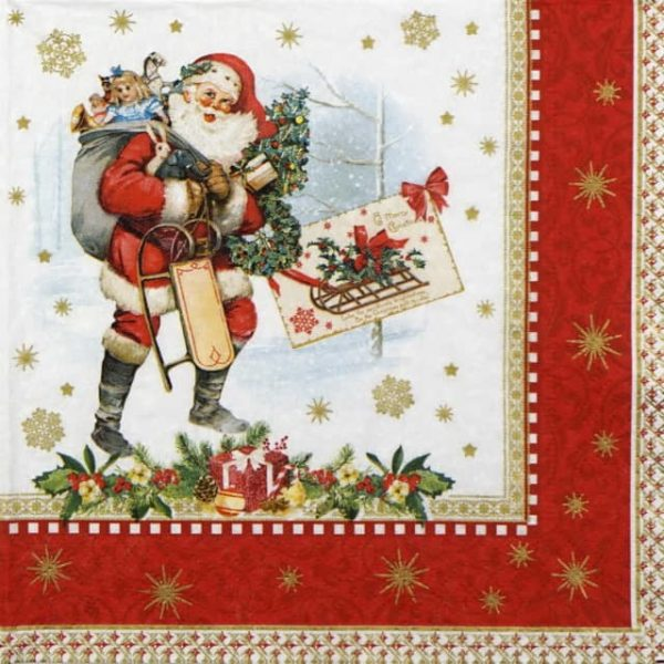 Lunch Napkins (20) - Vintage Christmas