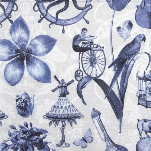 Lunch Napkins (20) - Blue Things blue