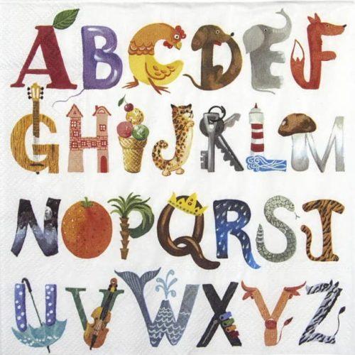 Paper Napkin - Know my ABC