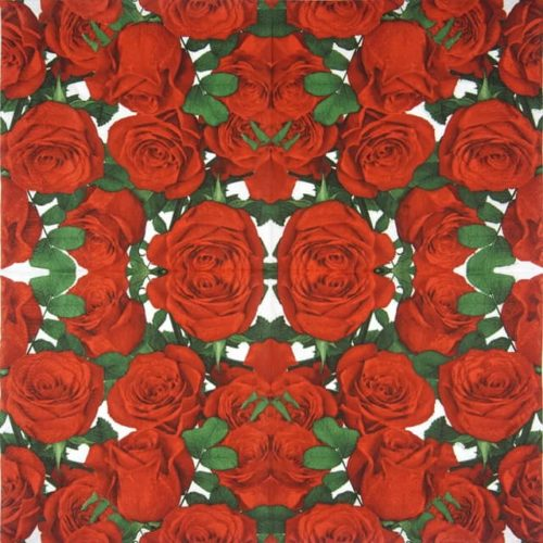 Paper Napkin - Classic Red Roses