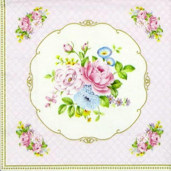Paper Napkin - Bouquet Pink