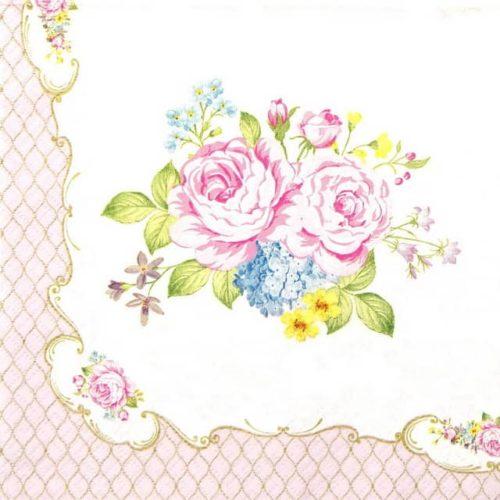 Paper Napkin - Heritage Roses