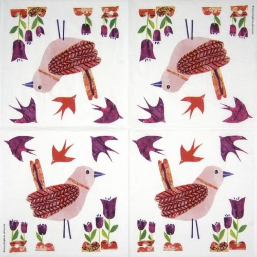 Lunch Napkins (20) - Tracey English: Beauty Bird