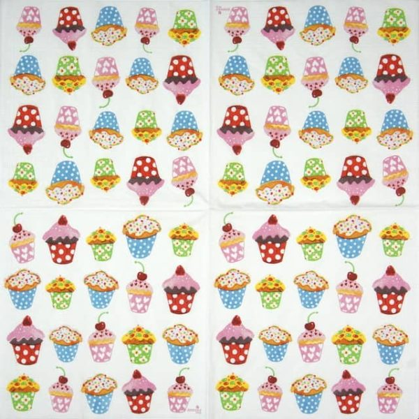 Lunch Napkins (20) - Anneko Design: Sweet Cupcakes