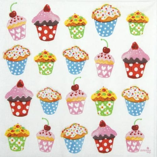 Lunch Napkins (20) - Anneko Design: Sweet Cupcakes