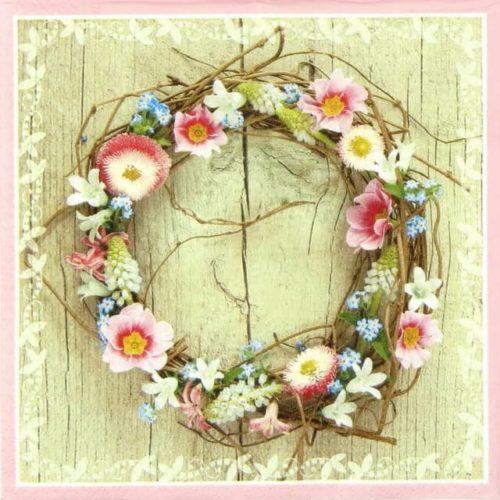 Paper Napkin - Spring Wreath