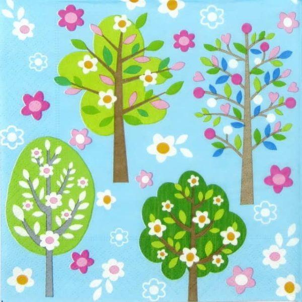 Paper Napkin - Flowering Trees