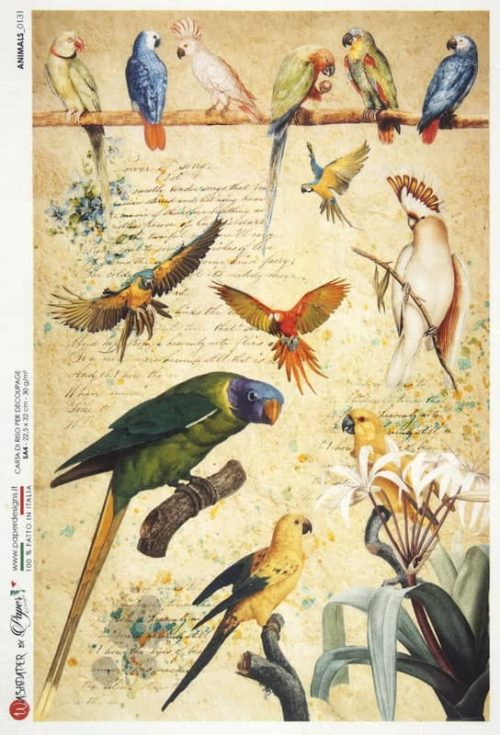 Rice Paper - Animals 0131