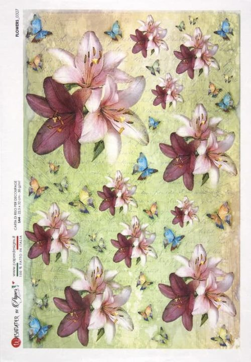 Rice Paper - Flowers 0327