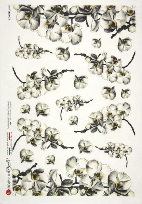 Rice Paper - Flowers 0367