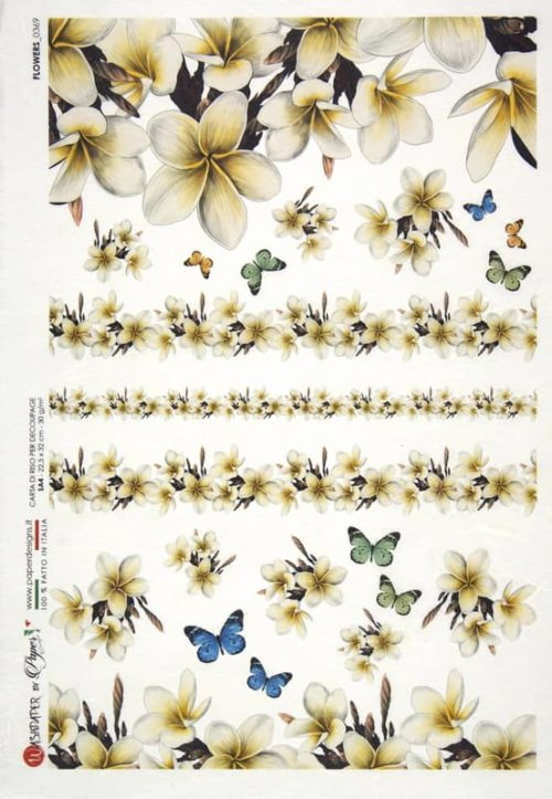 Rice Paper - Flowers 0369