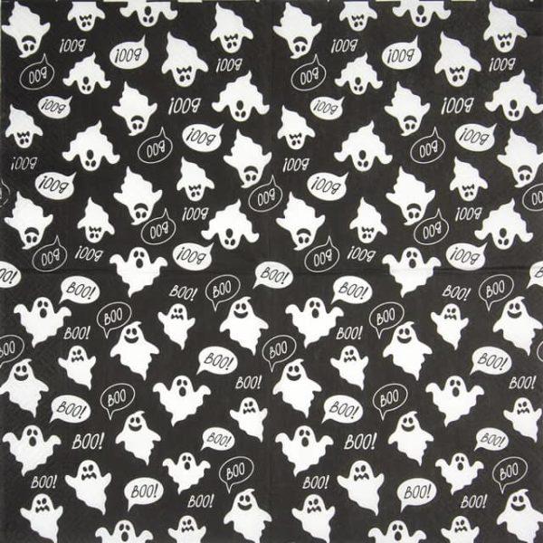 Paper Napkin -  Boo (black)