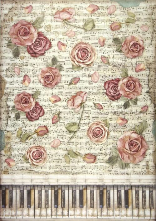 Rice Paper - Passion roses and piano
