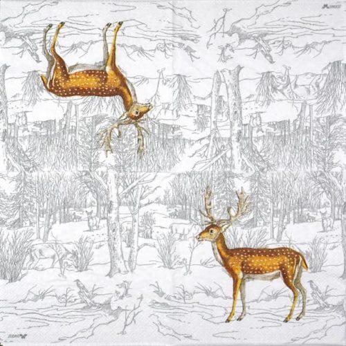 Paper Napkin - Lufia White