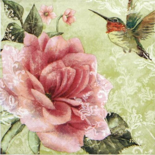 Paper Napkin - Hummingbird Green