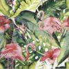 Paper Napkin - Flamingo and hibiscus