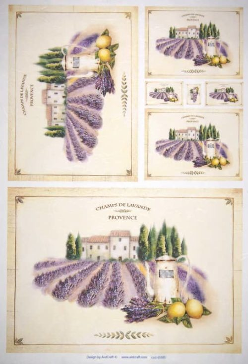 Rice Paper - Lavender Fields