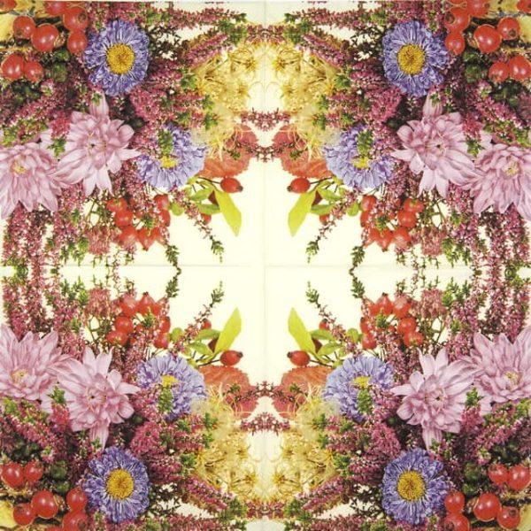 Paper Napkin - Autumn Flowers