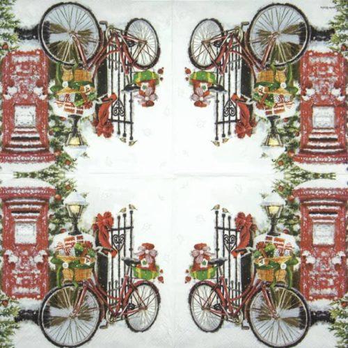 Lunch Napkins (20) - Bike in Snow