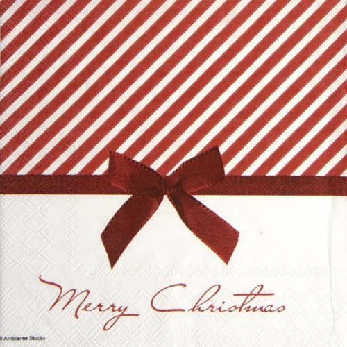 Paper Napkin - Christmas Bow red