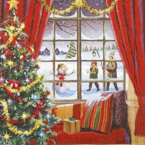 Cocktail Napkins (20) - Christmas Window
