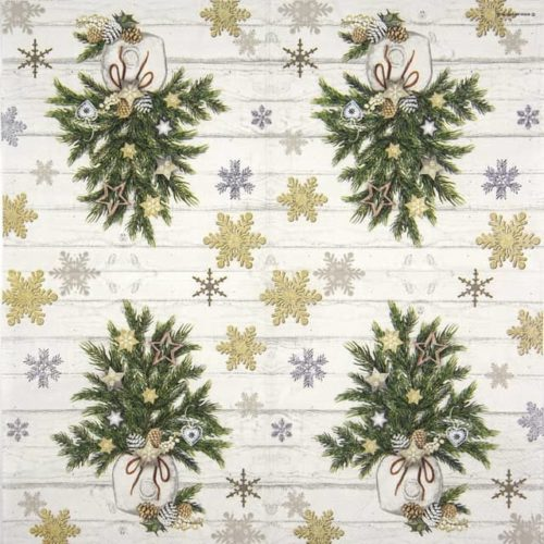 Cocktail Napkins (20) - Decorated Branches