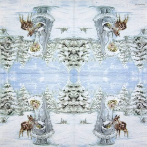 Paper Napkin - Feeding Deer