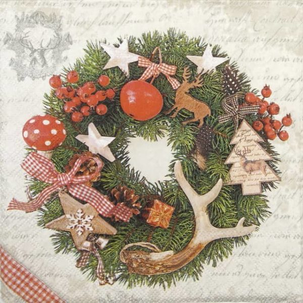 Cocktail Napkins (20) - Forest Wreath