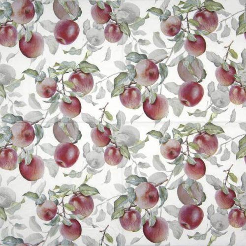 Cocktail Napkin - Fresh Apple White