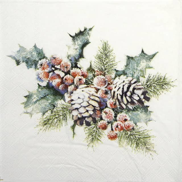 Cocktail Napkins (20) - Holly And Berries